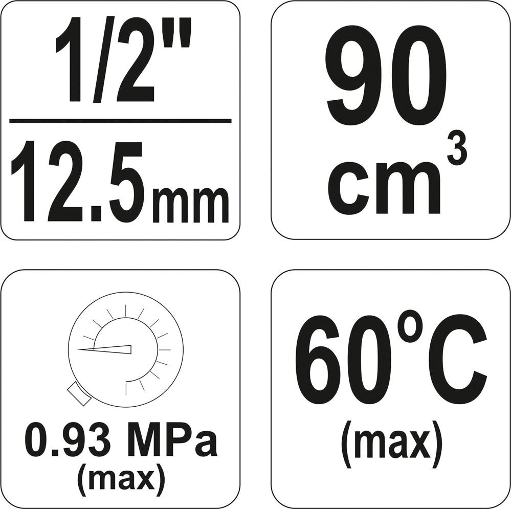 Filtru regulator YATO, cu reductor, 90cm3 2